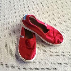 Toms Red Sz 13Y Slipons